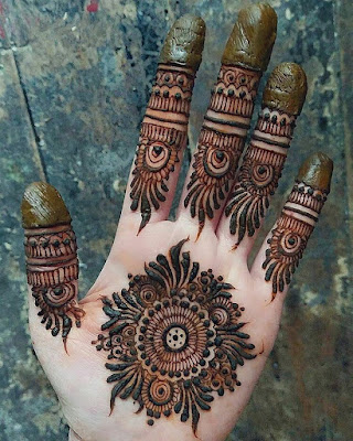 d7e4b8a91 121 Simple mehndi designs for hands || Easy Henna patterns with ...
