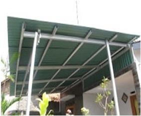 Kanopi Baja Ringan Tiang Double 0812 2984 9330 Jasa Pasang Di Yogyakarta Harga
