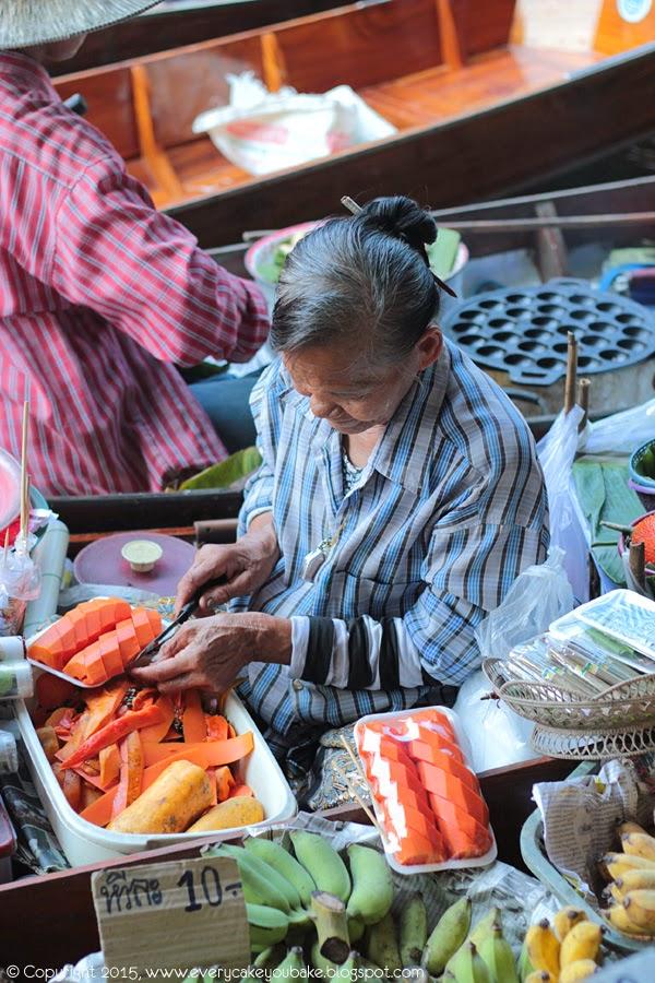 Tajlandia - pływający targ w Damnoen Saduak