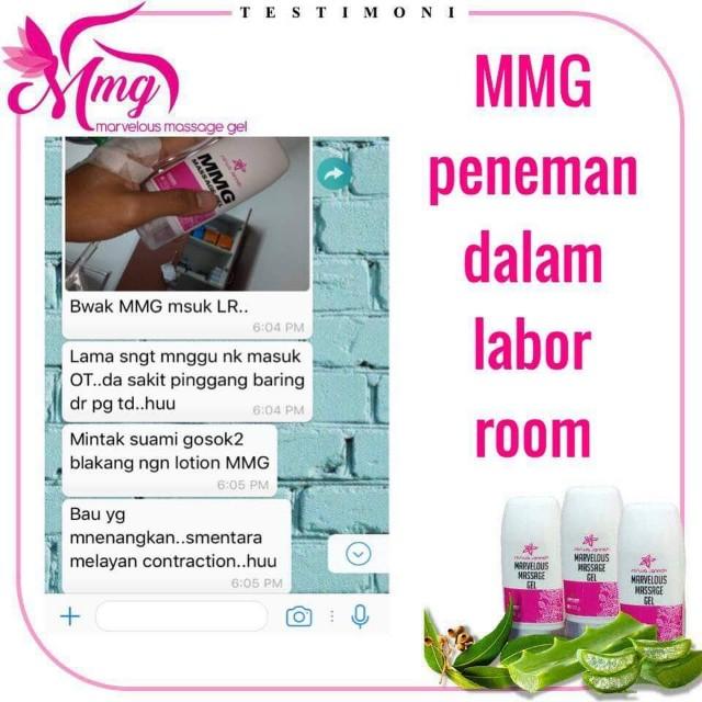 Minyak urut moden MMG pantas melegakan rasa tak selesa ibu mengandung.