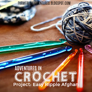 Adventures in Crochet~ Project: Easy Ripple Afghan