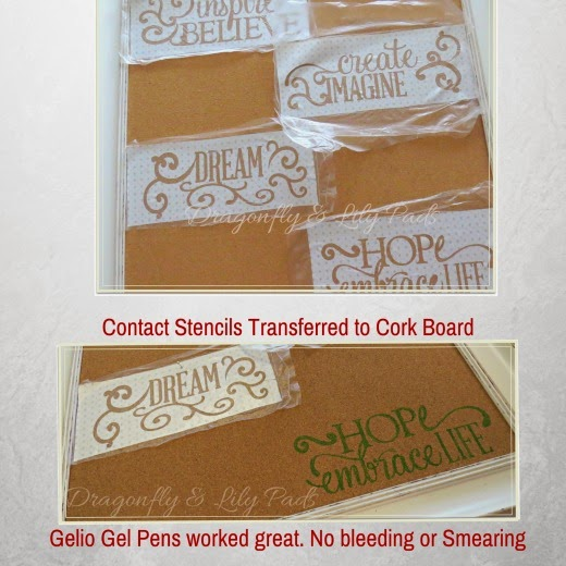 DIY Stencil Inspiration Board, Vintage Contact Paper Stencil, Gel Pens,