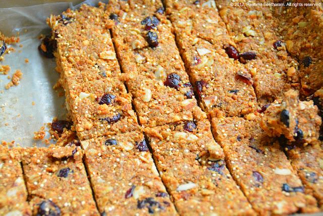 Quinoa oats energy bars