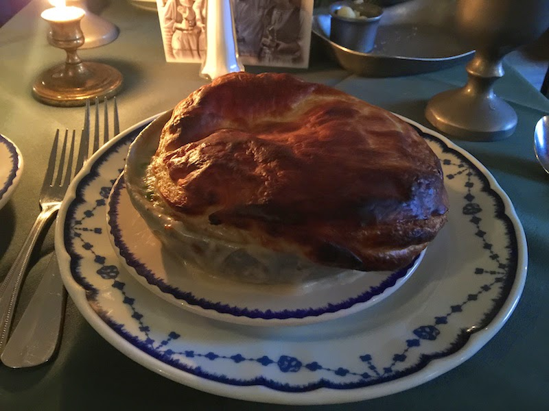 Turkey Pot Pie at City Tavern in Philadelphia