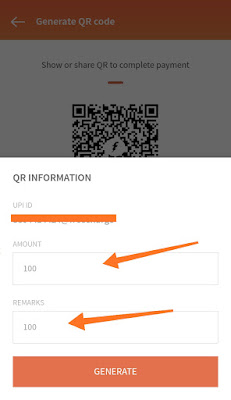Freecharge generate QR code image