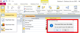 menyimpan tabel database ms access 2010
