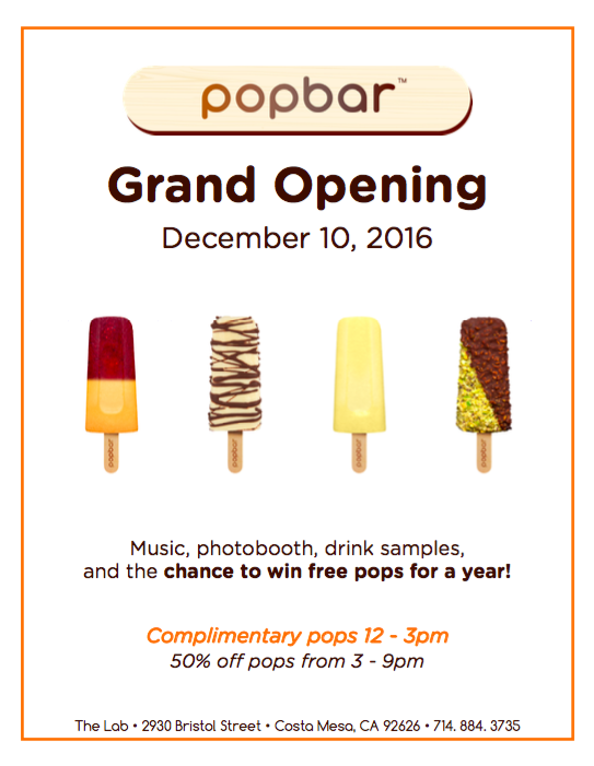 Dec. 10 | Pop Bar Celebrates Grand Opening At The Lab With Free Bars For Everyone