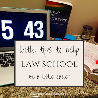 little tips to help law school be a little easier | brazenandbrunette.com