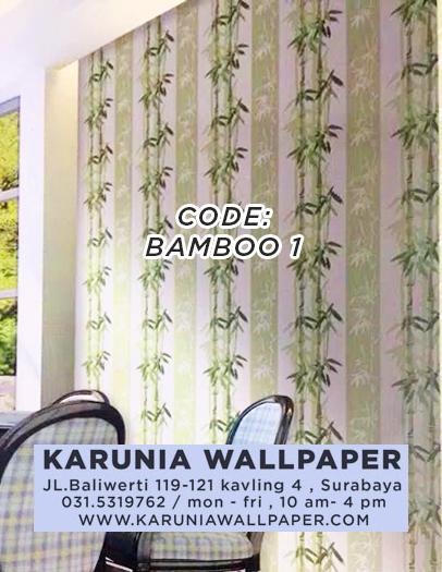 jual hiasan wallpaper motif bambu