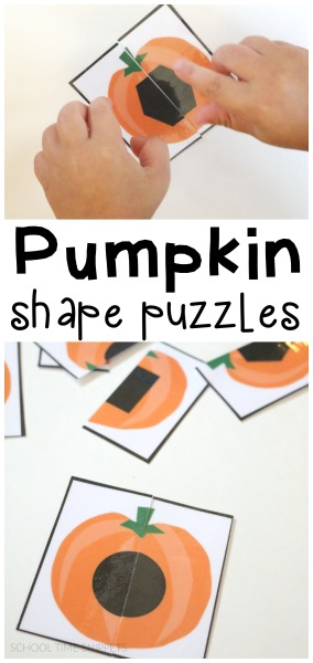 pumpkin shape matching puzzles for toddlers