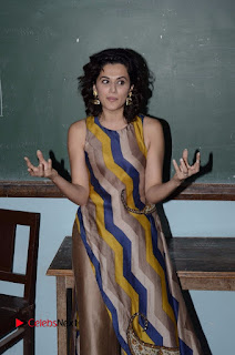Actress Tapsee Panu Stills at Remonetise India Campaign in Chetna College Bandra West  0013.jpg