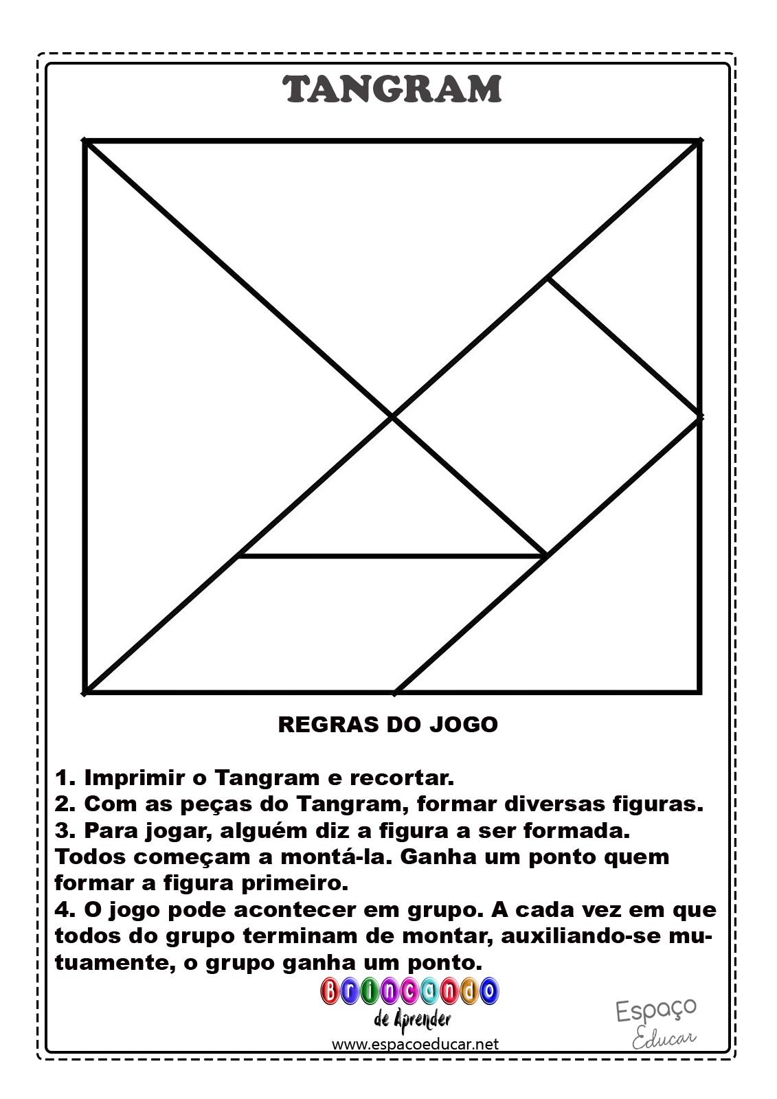 Favoritos ESPAÇO EDUCAR: Tangram para imprimir + sugestões de montagem e  PY62