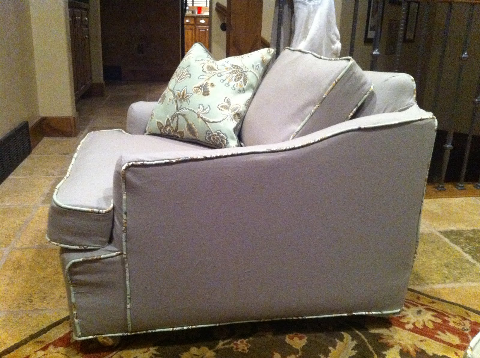 The Sewing Nerd Slipcovers: Floral Couch And Tree Chairs