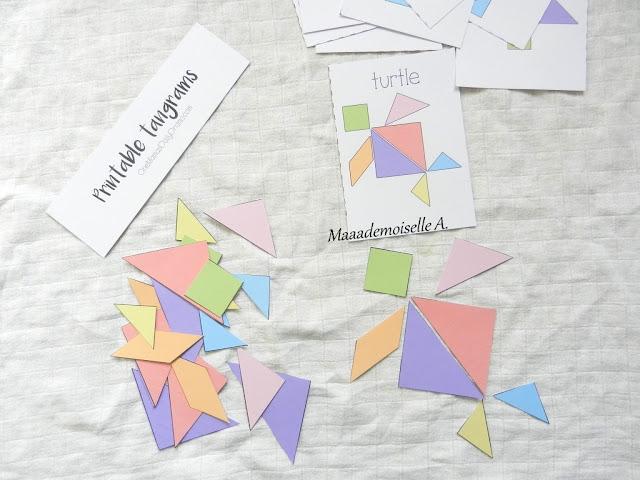|| Activité : Tangram pastel et cartes modèles à imprimer