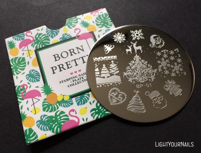Bornprettystore BP-01 Christmas stamping plate