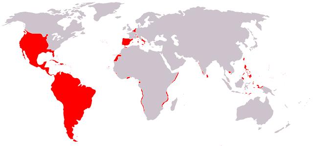 Mapa diacrónico del Imperio Español