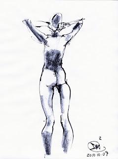 2 Minute sketch of nude by David Meldrum