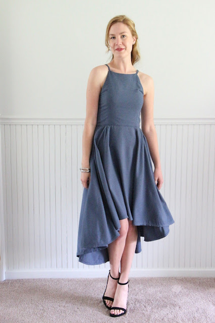 Slate Blue Bridesmaid Dress : Vogue 9252 by Palindrome Dry Goods