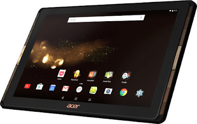 Acer Iconia Tab 10 A3-A40 Specifications - LAUNCH Announced Announced 2016, April  This is not a GSM device, it will not work on any GSM network worldwide DISPLAY Type IPS LCD capacitive touchscreen, 16M colors Size 10.1 inches (~68.4% screen-to-body ratio) Resolution 1920 x 1200 pixels (~224 ppi pixel density) Multitouch Yes BODY Dimensions 259 x 167 x 8.9 mm (10.20 x 6.57 x 0.35 in) Weight - SIM No PLATFORM OS Android OS, v6.0 (Marshmallow) CPU Quad-core 1.3 GHz Cortex-A53 Chipset Mediatek MT8163A GPU Mali-T720 MP2 MEMORY Card slot microSD, up to 256 GB (dedicated slot) Internal 16/32/64 GB, 2 GB RAM CAMERA Primary 5 MP Secondary 2 MP NETWORK Technology No cellular connectivity 2G bands N/A GPRS No EDGE No COMMS WLAN Wi-Fi 802.11 a/b/g/n/ac, dual-band, hotspot GPS  USB microUSB v2.0 Radio No Bluetooth Yes FEATURES Sensors Accelerometer Messaging Email, Push Email, IM Browser HTML5 Java No SOUND Alert types Vibration; MP3, WAV ringtones Loudspeaker Yes 3.5mm jack Yes BATTERY  Non-removable Li-Ion battery Stand-by  Talk time  Music play  MISC Colors Black Features - MP3/WAV/eAAC+/Flac player - MP4/H.264 player - Document viewer - Photo/video editor - HDMI