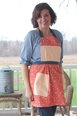 Custom apron made from My Fabric Designs heavy twill