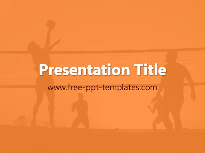Volleyball ppt template toneelgroepblik Gallery