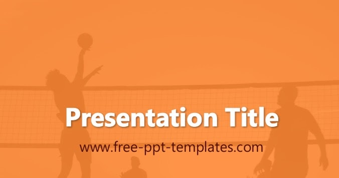 volleyball ppt template