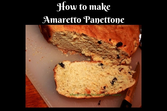 This is how to make Italian Panettone with Amaretto rising then will be brushed with beaten egg wash before baking then baked to perfection with raisins