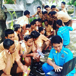 Kunjungan SMK TI Bali Global Denpasar ke SMP Negeri 4 Denpasar