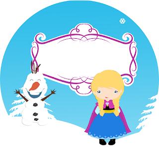 Toppers o Etiquetas para Imprimir Gratis de  Frozen Bebé.