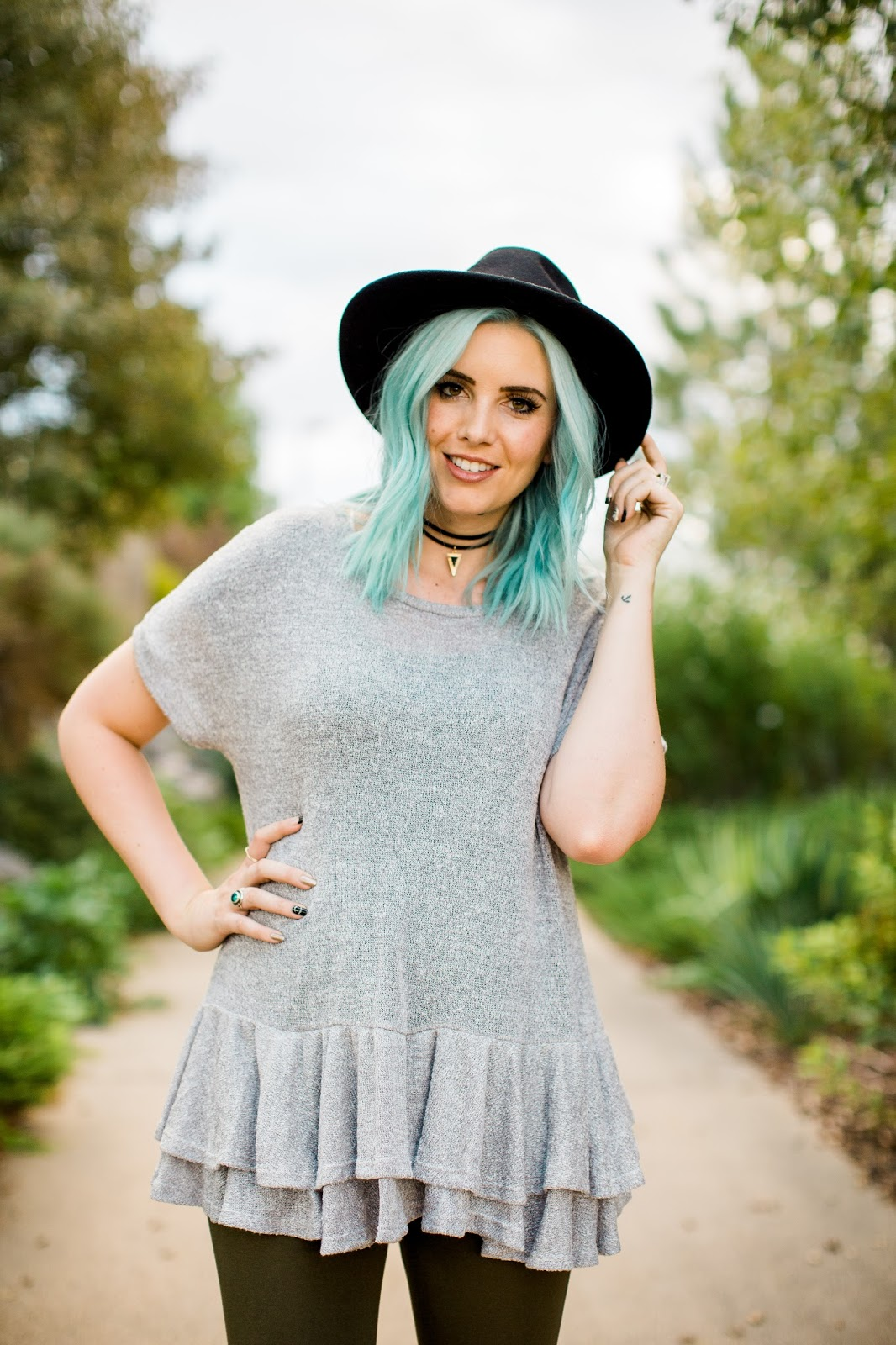 Blue Hair, Modest Outfit, Modest Top