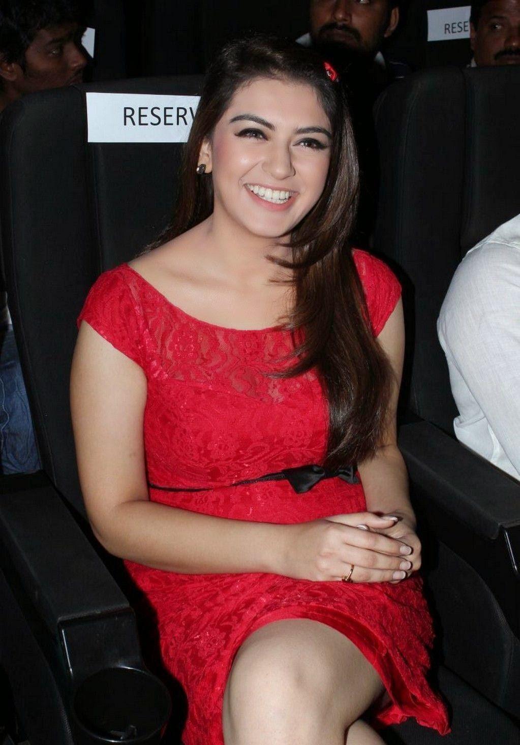Hansika Motwani Hot Red Dress Pictures