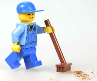Figura de Lego Limpiador