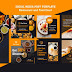 Modern instagram posts template for breakfast restaurant Free Psd
