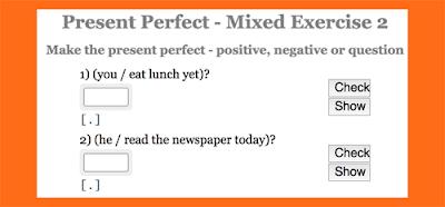 Present Perfect practice: Mixed sentences