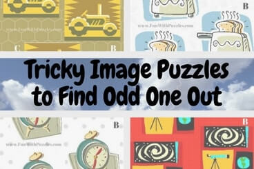 Tricky Image Puzzles to Find Odd One Out with Answers
