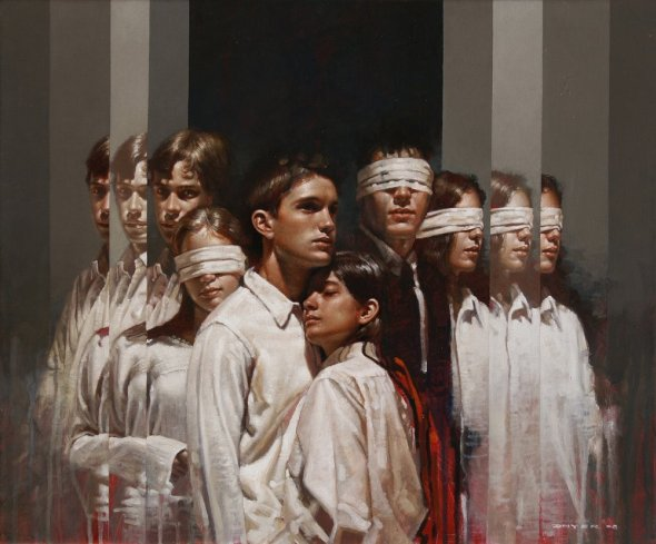 Diego Dayer arte pinturas a óleo estilo renascentista músicos