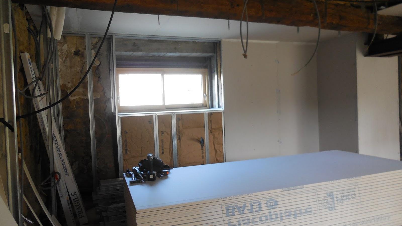 r novation d 39 une long re phase 7 isolation pose de placo. Black Bedroom Furniture Sets. Home Design Ideas