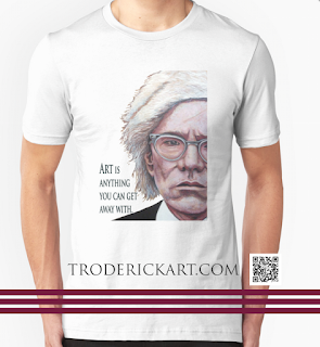 Mr Warhol t shirt by Boulder artist Tom Roderick