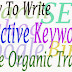 How To Write Effective Keywords