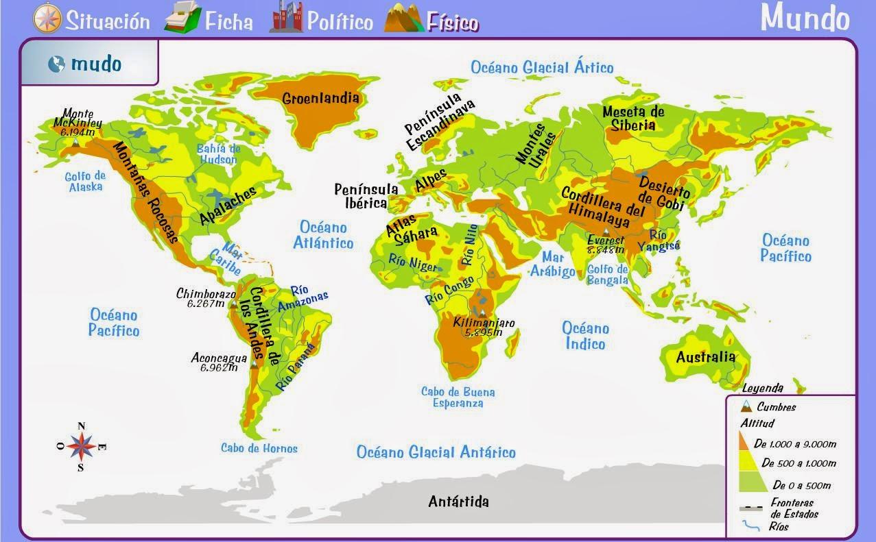 Mapa Para Jugar Dónde Está Continentes Y Océanos: Mapa Con Los Continentes Y Oceanos Nuestro Blog Informaci