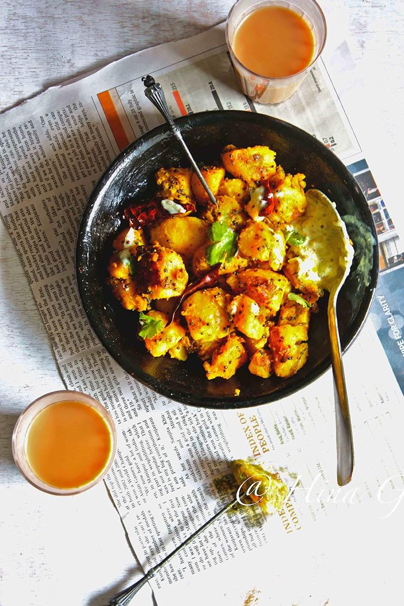 the give-and-take Gutke inward local Kumauni dialect way pieces Aloo ke Gutke Recipe (Stir Fried Potato Pahadi Style)
