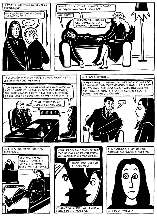 Read Chapter 12 - Skiing, page 117, from Marjane Satrapi's Persepolis 2 - The Story of a Return