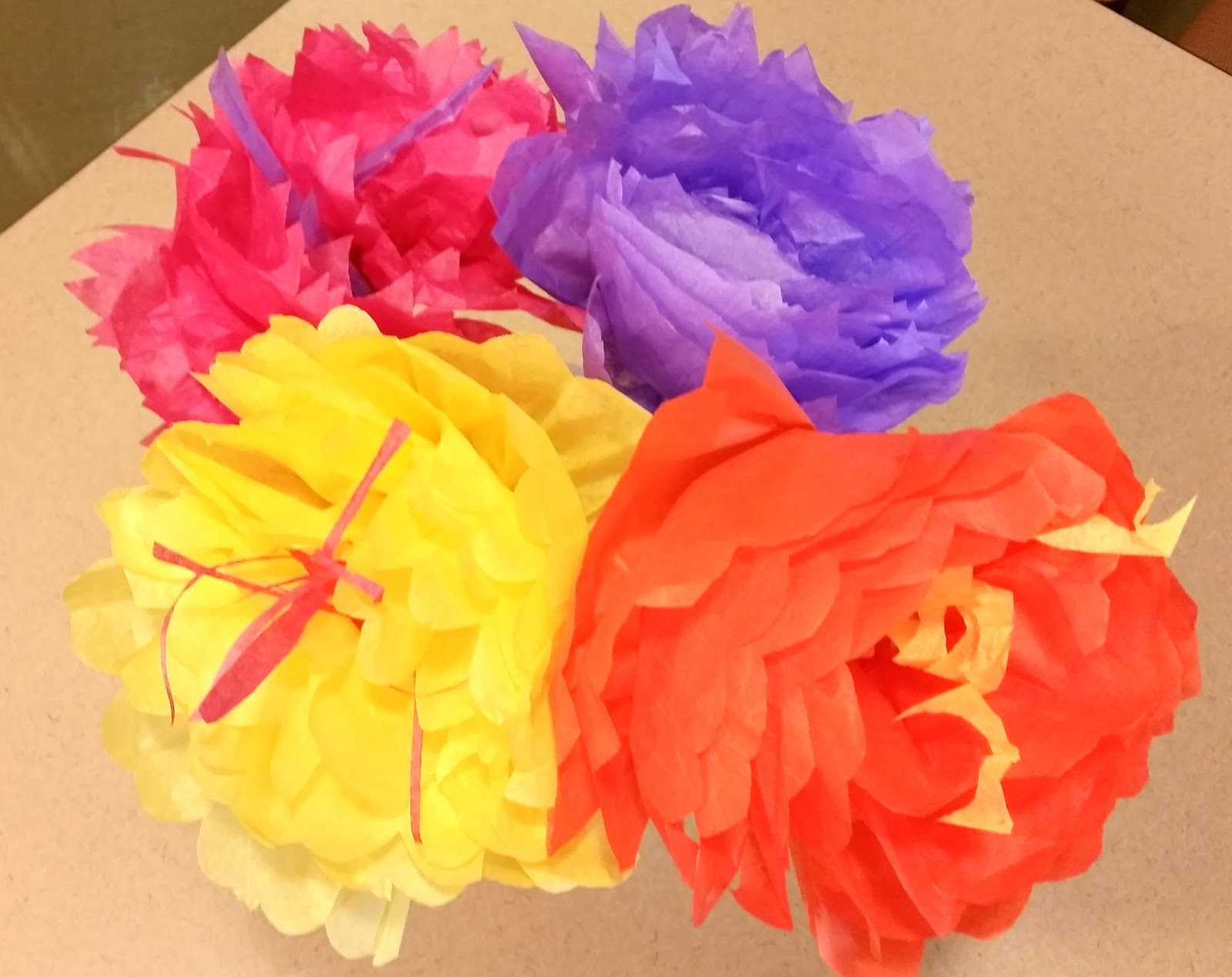 Kim Lawson Art Lets Make Tissue Paper Flowers