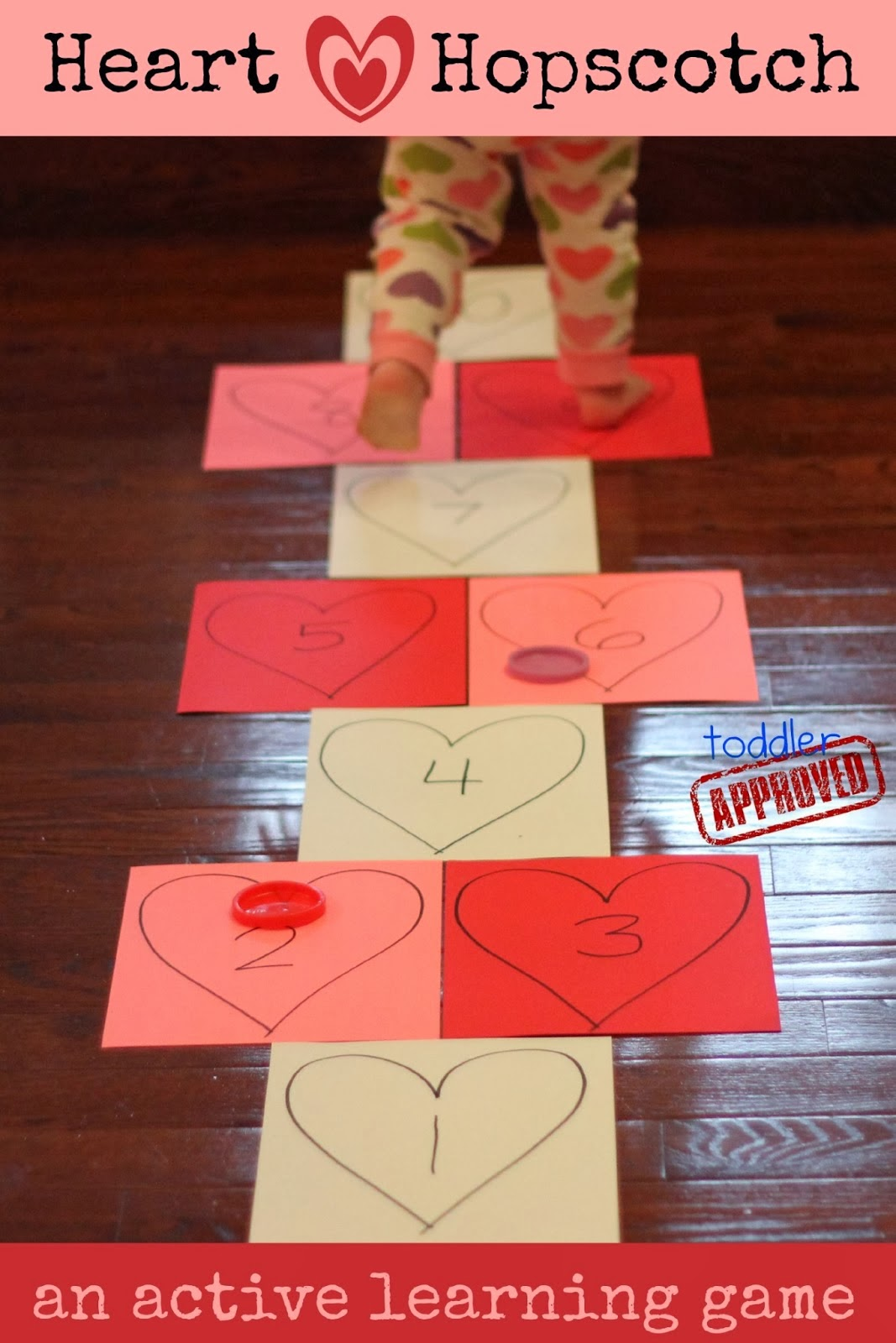 Toddler Approved Heart Hopscotch An Active Valentine S Day Learning Game