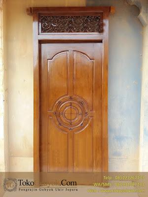 Pintu Kusen Jati Miimalis Ukiran
