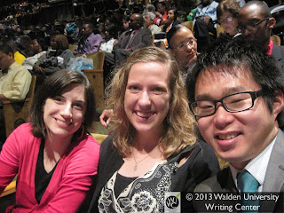 Hillary, Rachel, and Nik at commencement