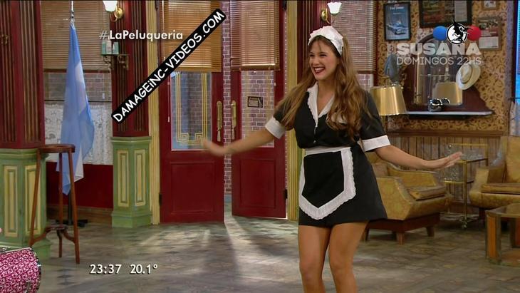 Barbie Velez hot legs in a maid outfit damageinc videos HD