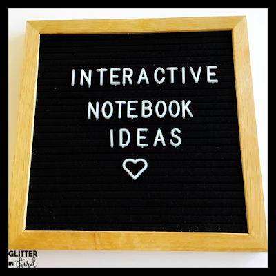 letter board saying interactive notebook ideas