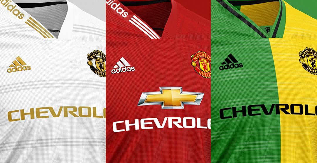 newest 754f9 4112d Exceptional Adidas Manchester United Home, Away & Third ...