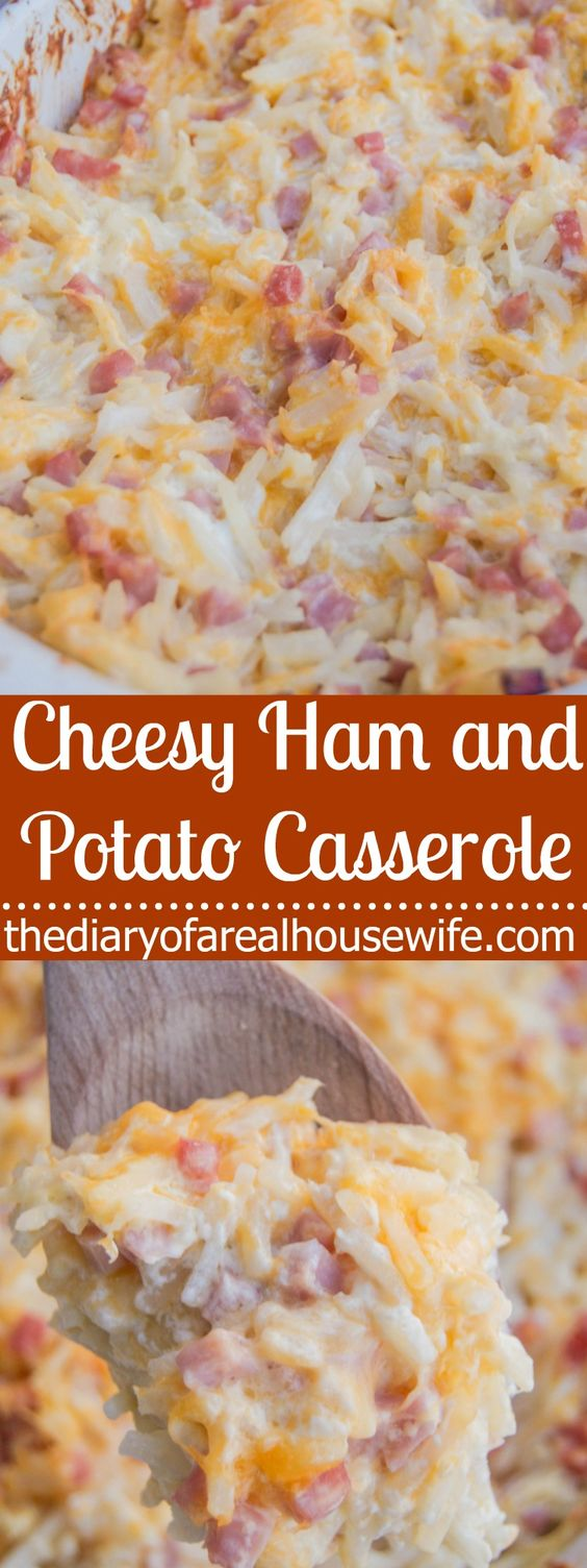Cheesy Ham and Potato Casserole